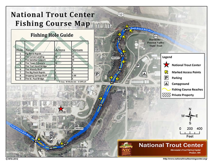 Preston, Minnesota - National Trout Center - Fishing Course, Root River, Trout Fishing
