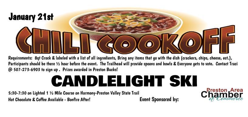 Preston's Candle Light Ski & Chili Cook Off Contest @ Trailhead Inn | Preston | Minnesota | United States