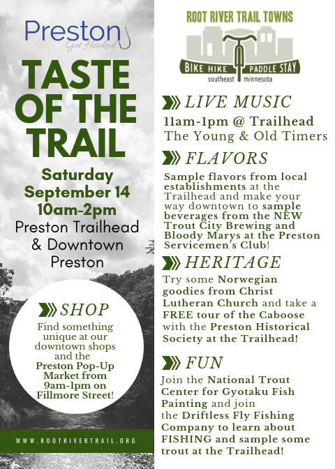 Taste of the Trail - Preston, Fountain, Harmony @ Trailhead Park - Preston | Preston | Minnesota | United States