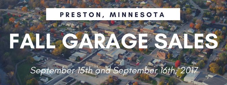 Preston's Fall City Wide Garage Sales @ Preston | Minnesota | United States