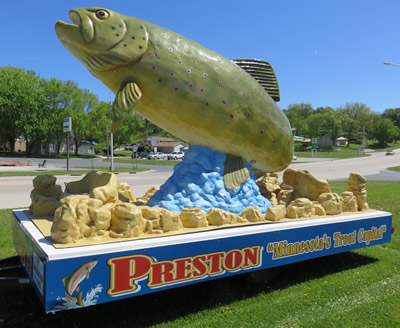 Preston, Minnesota - Trout Capital - Trout Days, Root River, Biking, Fishing, National Trout Center, Fillmore County Fair