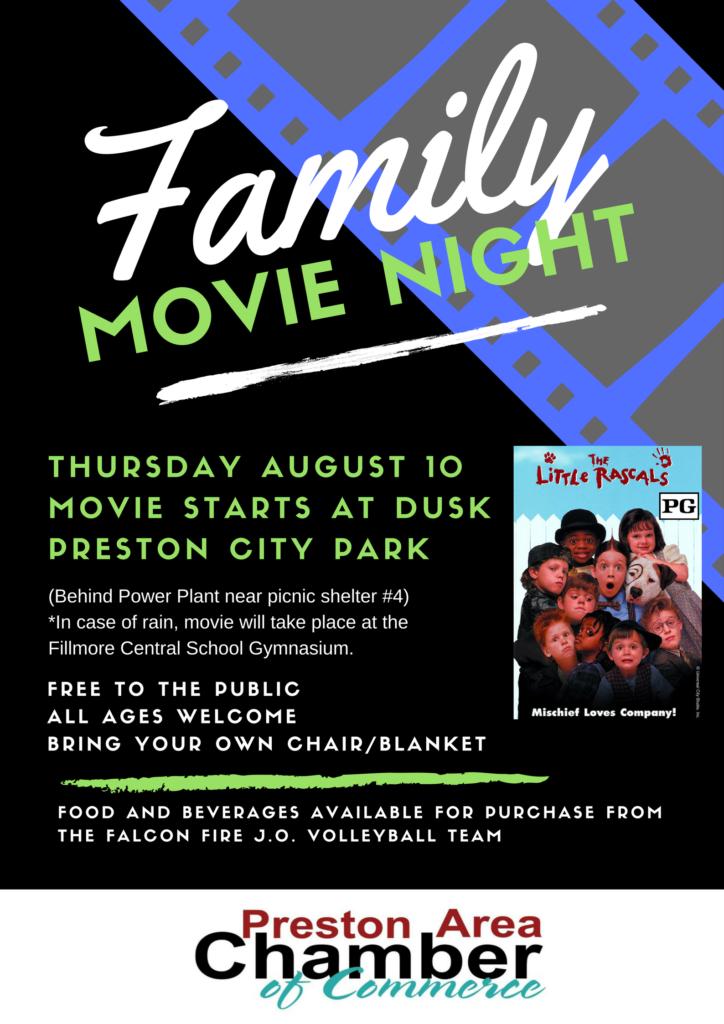 Family Movie Night @ Preston City Park (Behind Power Plant) Picnic Shelter #4