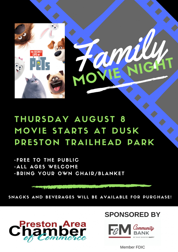 Family Movie Night @ Preston Trailhead Park
