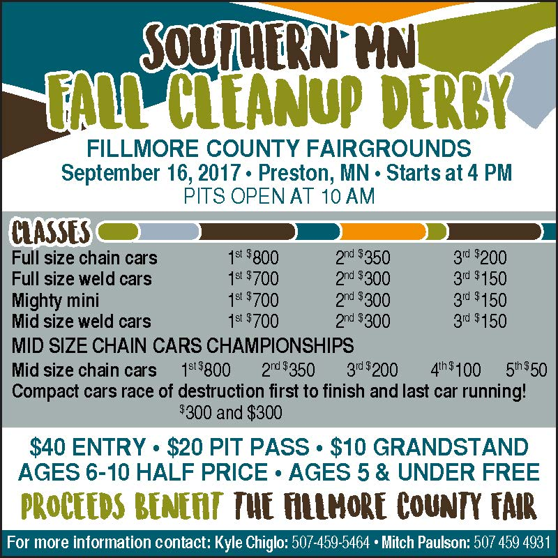Southern MN Fall Cleanup Derby @ Fillmore County Fairgrounds