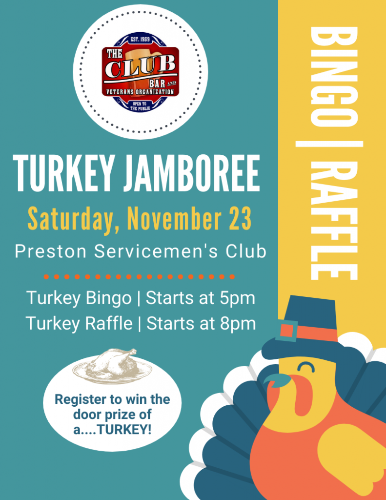 Turkey Bingo @ Preston Servicemen's Club