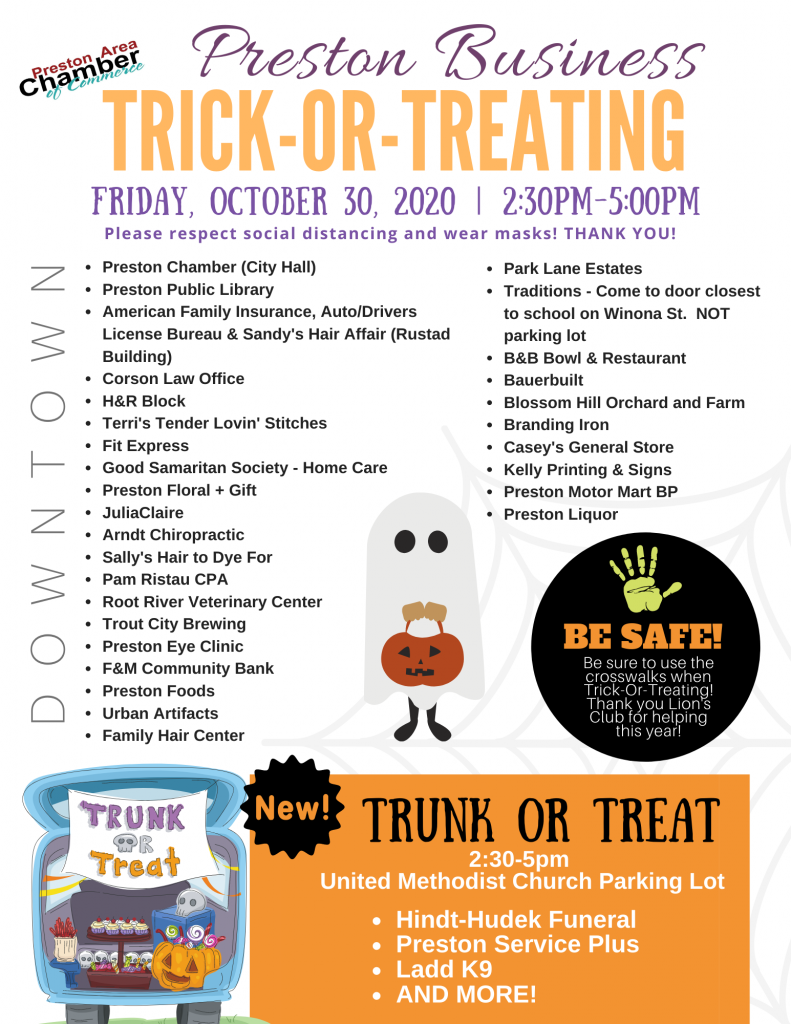 Preston Business Trick-Or-Treating & Trunk-Or-Treat