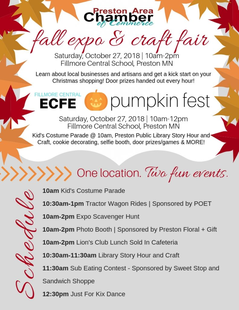 Preston's Fall Expo and Craft Fair and Pumpkin Fest @ Fillmore Central School