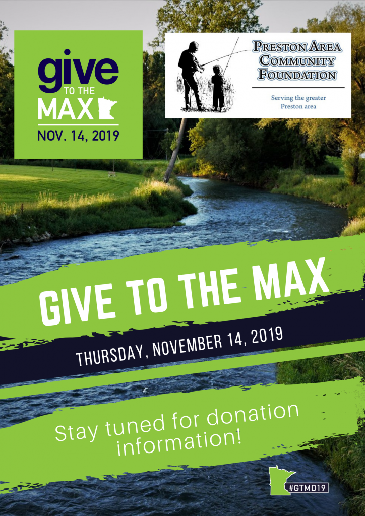 Preston Area Community Foundation Give To The Max Day