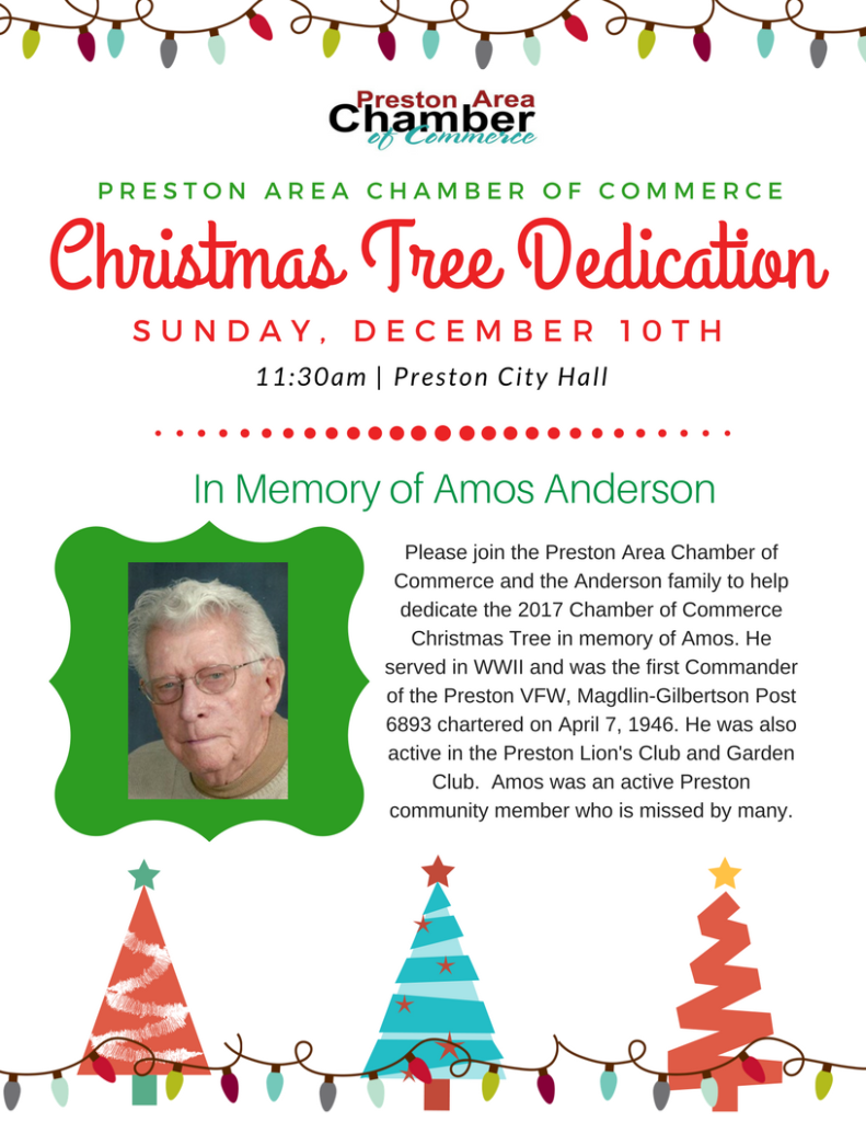 PACC Christmas Tree Dedication @ Preston City Hall