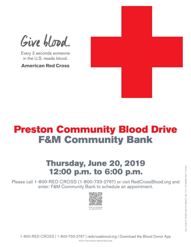 American Red Cross Blood Drive @ F&M Community Bank