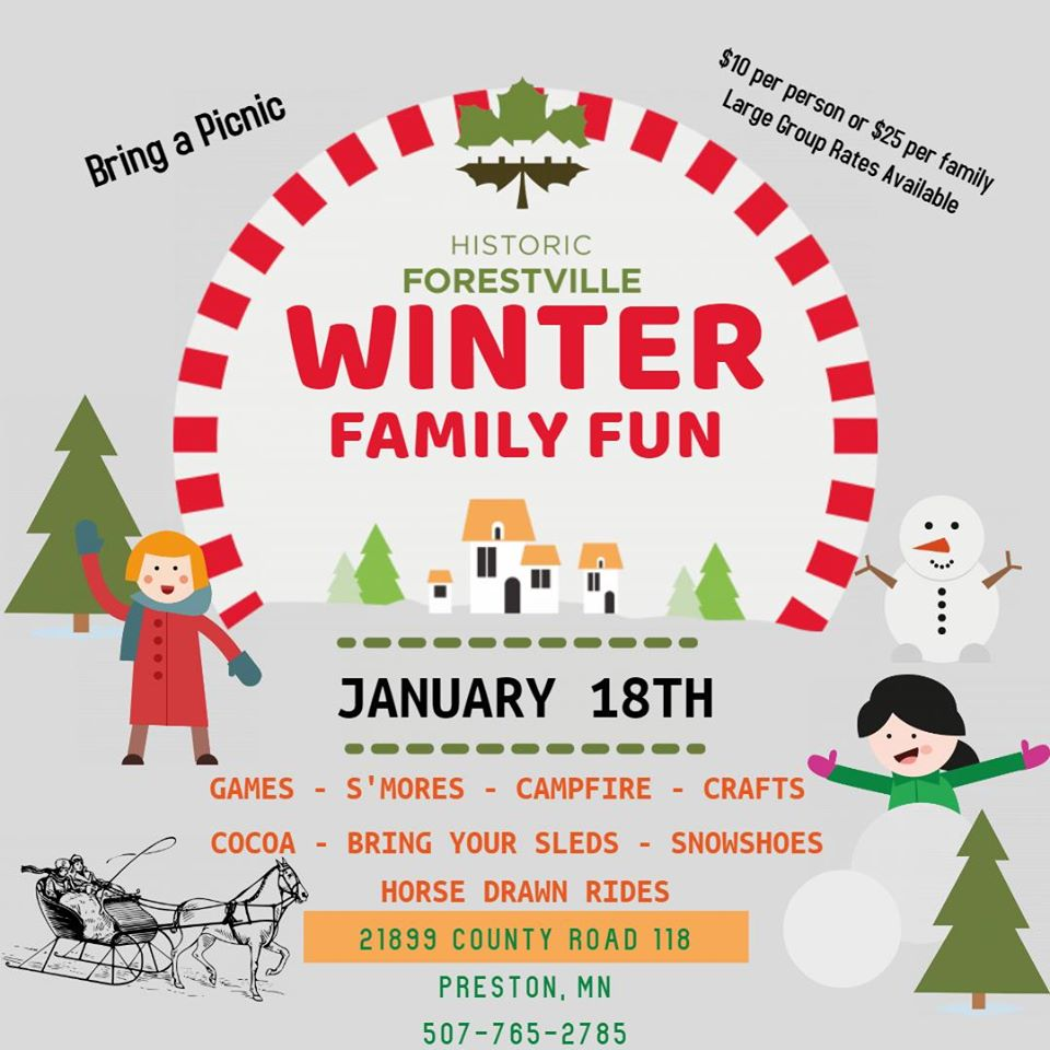 Winter Family Fun - Historic Forestville @ Historic Forestville