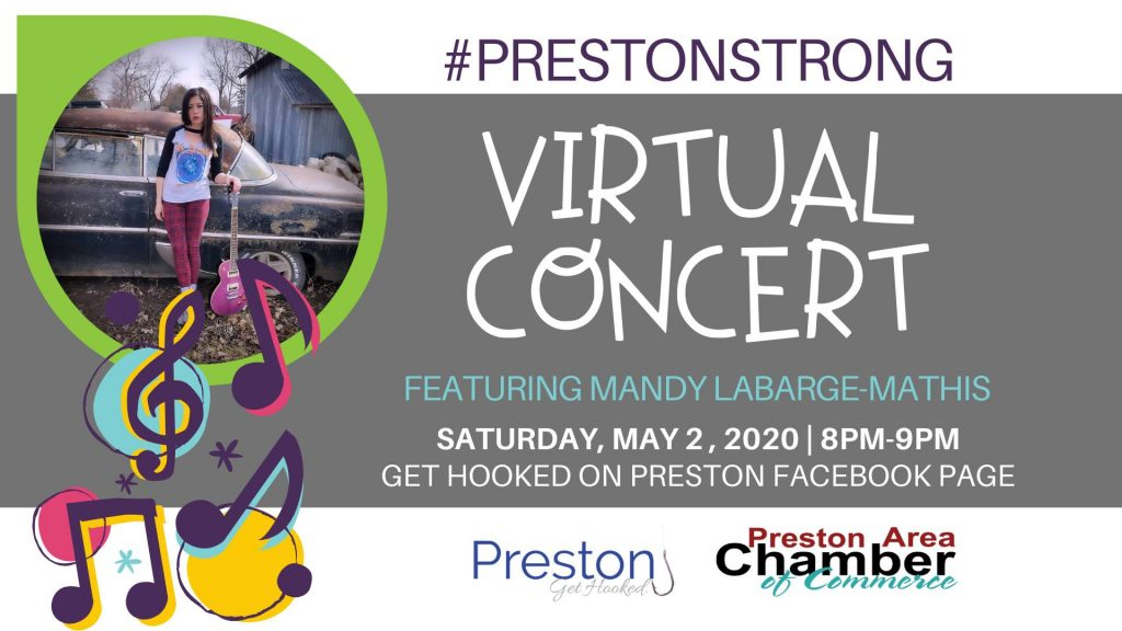 #PrestonStrong Virtual Concert @ Get Hooked On Preston Facebook Page
