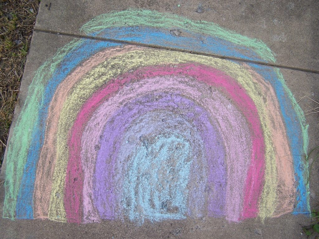Family Chalk Drawing Contest