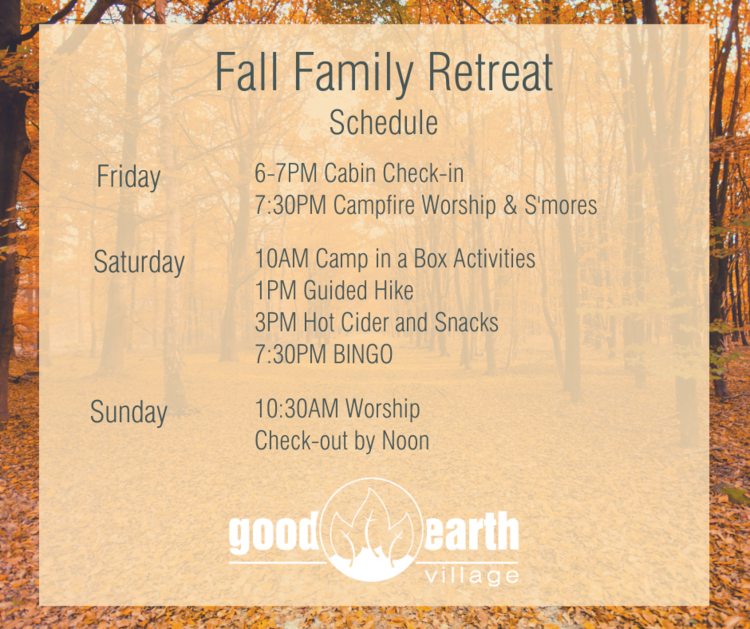Fall Family Retreat at Good Earth Village @ Good Earth Village