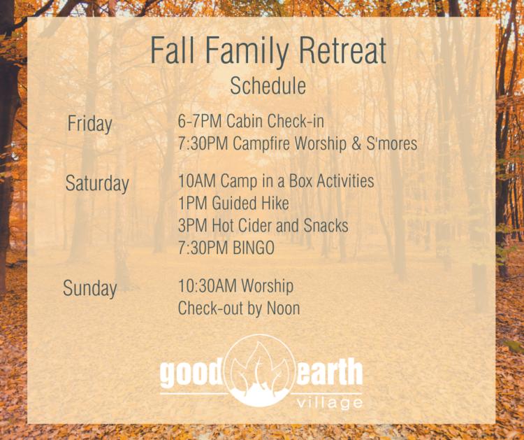Fall Family Retreat at Good Earth Village @ Good Earth Village